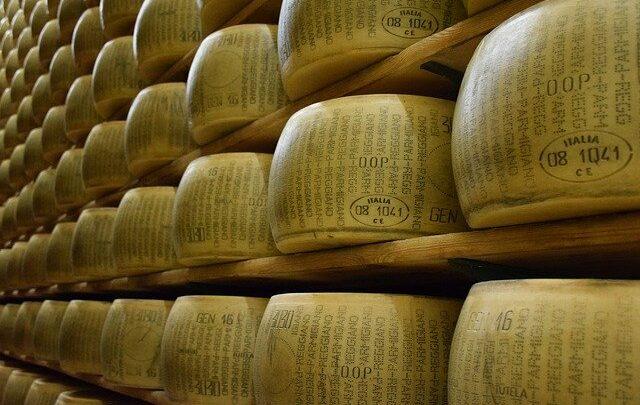 Aumenta l'esportazione del Parmigiano Reggiano